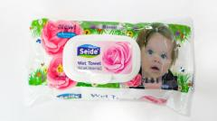 Влажная салфетка Seide ароматом роза  72 шт