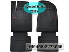 Hyundai Sonata 2015 üçün silikon ayaqaltılar,Силиконовые коврики для Hyundai Sonata 2015.