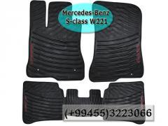 Mercedes Benz  S-class W221 üçün silikon ayaqaltılar,Силиконовые коврики для Mercedes Benz  S-class W221.