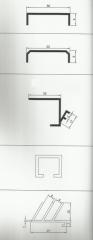 Алюминиевый профиль для торгового оборудования (Vitrin profilleri)