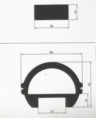 Профильные системы алюминиевые (Məhəccər profili)
