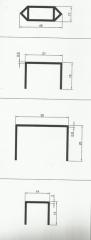 Алюминиевые профили - вентиляционные (Havalandirma profilleri)