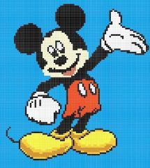 Панно из мозаики Mickey Mouse