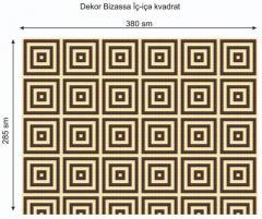 Дизайнерский декор Dek-Bisaz-iç-içə-Kvadratlar-001