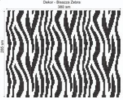 Дизайнерский декор Dek-Bisaz-Zebra-001