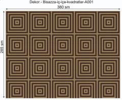 Дизайнерский декор Dek-Bisaz-iç-içə-Kvadratlar-A001