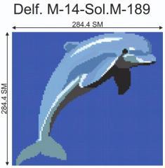 Декор для бассейна Delf.M-14-Sol.M-189