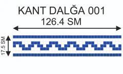Мозаичный кант Kant-Dalğa-001