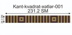 Мозаичный кант Kant-kvadrat-xətlər-001