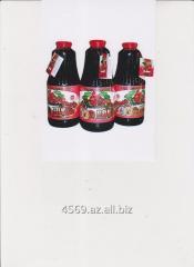 Сок гранатовый, натуральный, ассептический в 1л. ст.бутылках