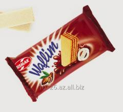 Вафли с начинкой какао и с кремом