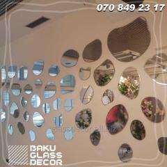 Декоративные зеркала под ваши требования - Заказа зеркал в Баку