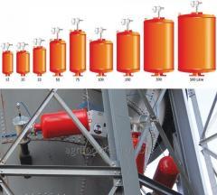 Воздушно-импульсная взрыворазрядная система для разгрузки силосов с трудносыпучим продуктом.