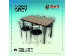 AKDENIZ GREY  Набор металлических столов