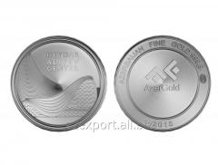 Серебряная  монета - Центр Гейдара Алиева