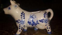 Сливочник «Корова», фарфор, роспись кобальтом. Дельфт, XX в.,