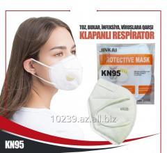 KN95 respirator klapanlı