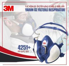 Filterli respirator. 3M  4251+