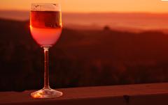 Drinks wine