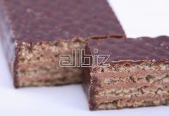 Candies wafer in chocolate cover