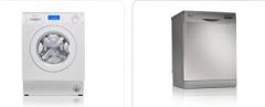 The built-in washer dryer hookups