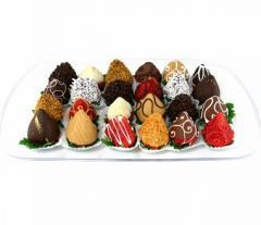 Подарочные корзины с фруктами в шоколаде
