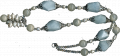 Necklace with blue aquamarine