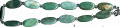 Beads from natural green aventurine