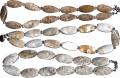 Beads from a rare oceanic jasper