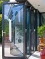 Двери гармошки стеклянные