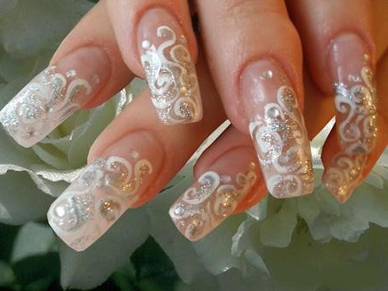 Дизайн ногтей фото свадебные