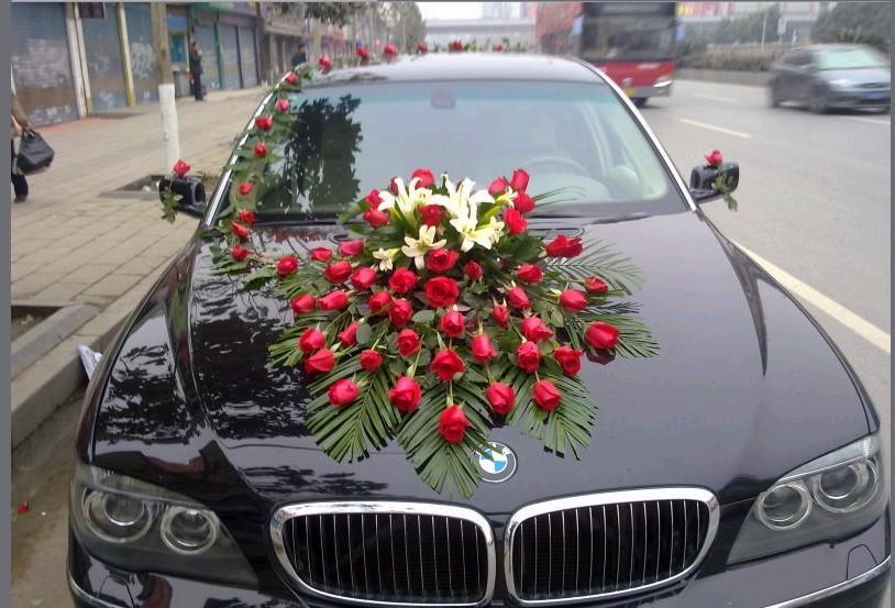 Order Registration in the flowers of wedding cars, halls, celebrations.