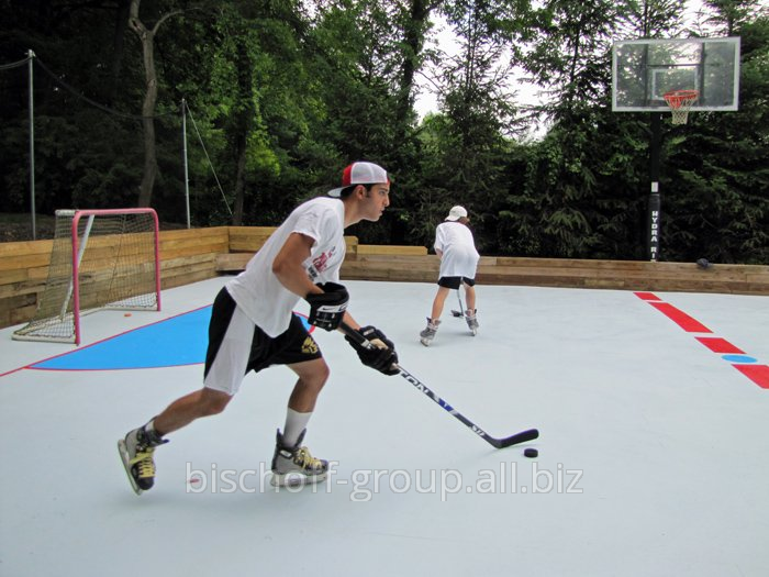 Строительство хоккейных площадок