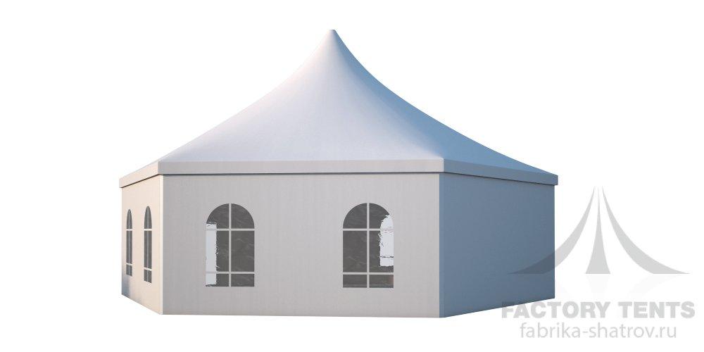 Заказать Аренда шестигранного шатра стандарт Диаметр 12м