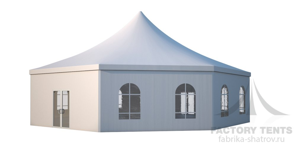 Заказать Аренда шестигранного шатра стандарт Диаметр 15м