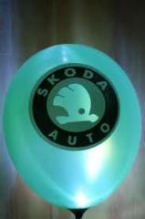 Нанесение логотипа на воздушные шары.