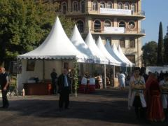 Registration of exhibitions - rent of tents with