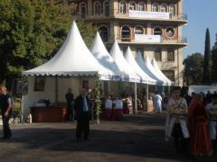 Оформление выставок - аренда шатров с алюминиевым каркасом