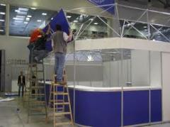 Installation of exhibition stands