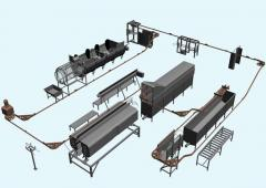 Production of the equipment and complete plants on