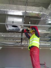 Installation of central airs and ventilation