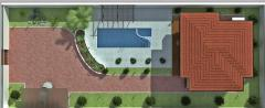Design the project of improvement of a site in Bak