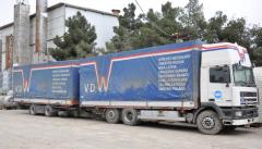 Gas delivery by special transport with capacity of