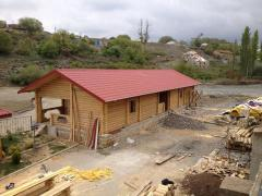 Construction of wooden baths