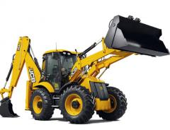 Rent, hire of excavators loaders