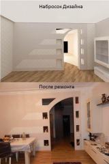 Разработка дизайна квартиры, дома в Баку.