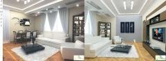 Development of interior design and furniture in