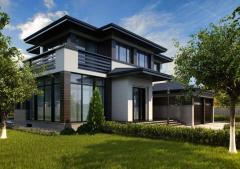 Beautiful house. Design, interior, exterior