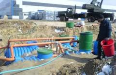 Services in installation of the sewerage.