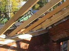 Construction and mounting of roofs and roof.